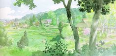Flooby Nooby: The Art of Studio Ghibli - Part 5 Art Studio Ghibli, Studio Ghibli Movies, Studio Ghibli Background, Animation Background, Hayao Miyazaki, Landscape Drawings, Landscapes, Matte Painting, Anime Scenery