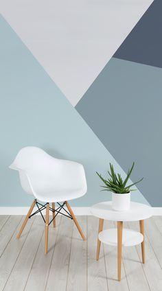 living modern designs trapeza di murals parete inspire mural wall idee colore fasce geometrica ru muralswallpaper per casa da read