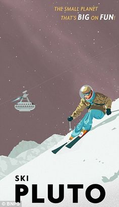 Stunning travel posters depict holidays on Pluto, Jupiter and Mars #dailymail