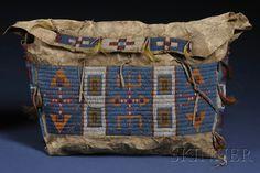 Beaded bag, Lakota