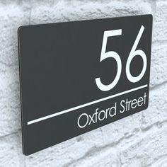 Door Number Plates, Door Numbers, Door Canopy Porch, Microsoft, Timber Front Door, Modern Contemporary Homes, House Names, Door Signs, House Signs