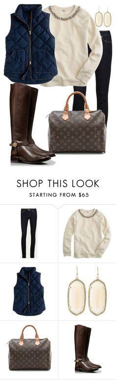 """""""Shopping!"""" by pretty-and-preppy ❤ liked on Polyvore featuring J Brand, J.Crew, Kendra Scott, WGACA and Tory Burch"""