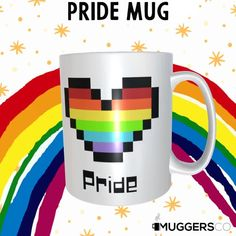 This, Gay Pride Rainbow Heart Coffee Mug makes for a cool gift for that proud LGBT person or LGBT supporter. Don't sweat over the right gift! This mug is beautiful as it is durable; a great Pride gift, Thank you gift, birthday gift, or Christmas gift to give that deserving person. The universal acceptance of a coffee mug as a gift makes it a preferred gift choice, and this mug is an excellent gift for the one you want to celebrate.