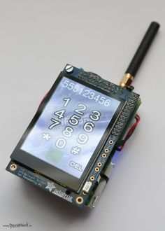 Build your own Linux-powered cell phone with this awesome Raspberry Pi phone project! Make and receive calls from a Raspberry Pi using the FONA GSM cell phone module and a PiTFT display. The best part of this phone is that you can customize it just how yo Linux, Diy Tech, Cool Tech, Diy Electronics, Electronics Projects, Computer Projects, Projetos Raspberry Pi, Life Hacks Diy, Raspberry Projects