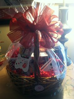 Corporate gift basket with marketing materials see coffee mug on mothers day basket negle Gallery