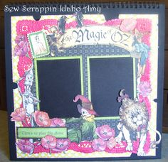 Graphic 45, Magic of Oz Scrapbook Layout