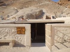 King Tut's tomb in the Valley of the Kings.