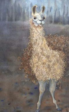 Anne Havard | WATERCOLOR | Cheeky the Llama