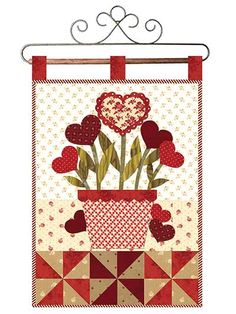 February Wall Quilt Download Pattern