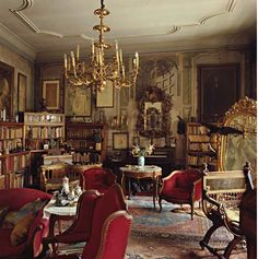 Alphonse Mucha's Library. Prague, Czech Republic. / Photo by Derry Moore