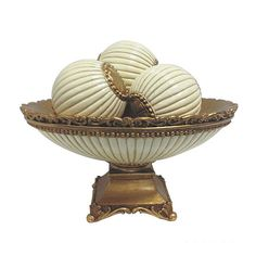This fabulous D'Lusso Designs 4-piece bowl with 3 orb set makes the perfect gift to impress. Made of intricately designed and colored polyresin, it is surely a gift or centerpiece that will be treasured.