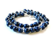 Vivid Lapis Necklace Statement Sapphire Royal Blue by MsBsDesigns