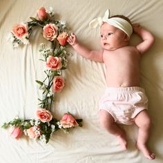 Monthly baby pictures- flowers