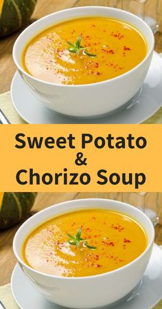 When you combine the high-fibre, carbohydrate goodness of sweet potato with amazing fiery chorizo…then you're onto a winner. Healthy Soup Recipes, Vegetarian Recipes, Cooking Recipes, Best Soup Recipes, Vegetarian Barbecue, Oven Cooking, Barbecue Recipes, Vegetarian Cooking, Meal Recipes