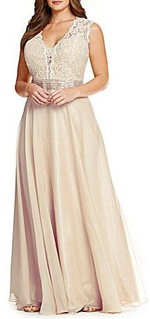 Plus Size Lace Chiffon Gown