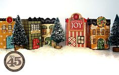 Learn how to make these fabulous matchbook box houses with a fun tutorial from Nichola! Perfect for the whole family #graphic45 #christmas #tutorials