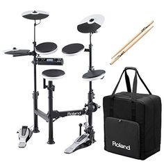 Roland V-Drums TD-4KP Portable Electronic Drum Set w/ CB-TDP Carrying Case & Anti-Vibe Drumsticks - Bundle - Digital Guitarist