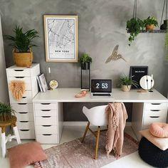 Reading Room Decor, Study Room Decor, Room Ideas Bedroom, Bedroom Office, Bedroom Decor, Home Office Space, Home Office Design, Home Office Decor, Office Setup