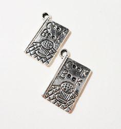 20pcs Peace Dove Charm Tibetan Silver Bead Finding Jewellery Making 19x11mm