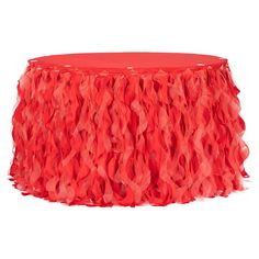Curly Willow 17ft Table Skirt - Red– CV Linens 4th Of July Party, Fourth Of July, Curly Willow, Fun Party Games, Chair Sashes, Thing 1, Table Toppers, Table Skirts, Whimsical