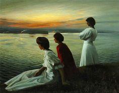 Harald Slott Møller Danish Painter 1864-1937 Midsummer's Eve