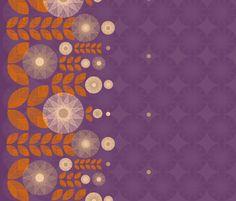Midnight Sunflowers fabric by mariaspeyer on Spoonflower - custom fabric