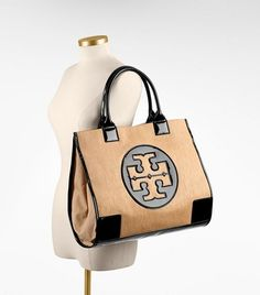 Straw Carlin Ella Tote | Womens Sale | ToryBurch.com