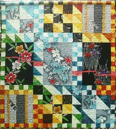"""O-Neesan (Elder Sister),"" by UK-based textile artist Susan Briscoe, a world expert in Japanese quilt design."