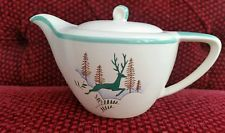 Vintage Crown Devon LEAPING GREEN Deer Stockholm Tea POT
