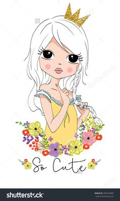 Find Cute Girl stock images in HD and millions of other royalty-free stock photos, illustrations and vectors in the Shutterstock collection. Cute Girl Drawing, Drawing For Kids, Cute Drawings, Girl Cartoon, Cute Cartoon, Disney Frames, Frida Art, Drawings Of Friends, Cute Girl Wallpaper