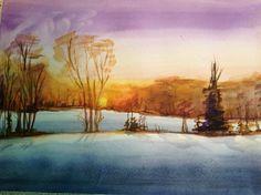 Winter, watercolor. via S. Edwards. 2013.