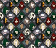 DC Arrow  fabric by kalisamlal on Spoonflower - custom fabric