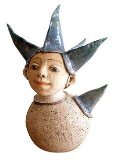 e-keramika / rarášik Garden Sculpture, Sculptures, Outdoor Decor, Artwork, Handmade, Home Decor, Work Of Art, Hand Made, Decoration Home