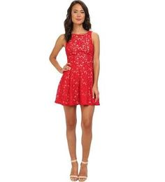 red fit and flare dress - Google Search