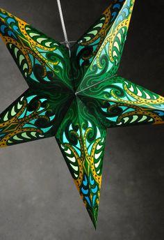 """24"""" Green Cosmic Splash Star Lanterns $5.99 each / 3 for $5 each"""