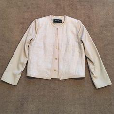 Louis Feraud of Paris jacket Gorgeous detail beige jacket with linen and   gold buttons Louis Feraud  Jackets & Coats Blazers