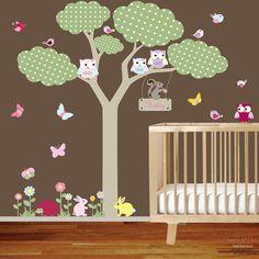 Vinyl Wall Decal Tree vinyl wall decal owls by nurserywalldecal