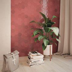 Zijn de keramische versie van de originele handgemaakte Marokkaanse tegeltjes. Deze hexagonale of zeshoekige wantegels zijn beschikbaar in een uitgebreid en levendig kleurpalet en op formaat 10,8 x 12,4 cm.  Deze bordeaux of wijnrode kleur is zacht van tint en heeft toch verschillende kleurschakeringen.  Kunnen geplaatst worden als muurtegels in een toilet, badkamer of ook als keuken spatwand. Home Design, Interior Design, Magazine Rack, Storage, Furniture, Tile, Home Decor, Wall Tiles, Wall Cladding
