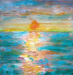 #Abstract #Sunset painting by #Ann Lutz. A donation for BC Auction Feb. 2013:)