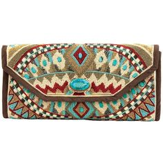 "Mary Frances - ""Turquoise Power"" Clutch Handbag"
