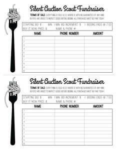 Fundraiser ticket design spaghetti dinner silent by for Silent auction catalog template
