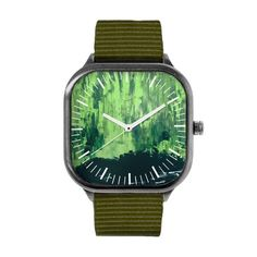 Snow Dreams in Green Nights Watch | Fashion Blogger | Design Watches | Accessories | Gifts | Art | Presents