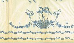1930s Beautiful Pillowcases Uncut Betty Burton Embroidery Transfer 1630