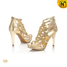 Summer Sheepskin Leather Diamond Setting Sandals Pumps Shoes CW23662 $392.79 - www.cwmalls.com