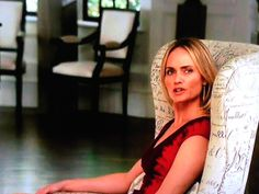 One the last episode of Revenge we got a shot of the Marily Arm Chair from Global Views in the background.  You have got to love the decor in the manor house!