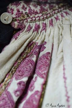 Romanian blouse detail. Adina Nanu collection Textiles, Traditional, Embroidery, Blanket, Detail, Blouse, Dress, Accessories, Collection
