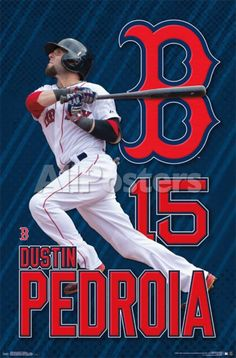 Boston Red Sox - D Pedroia 15 People Poster - 56 x 86 cm