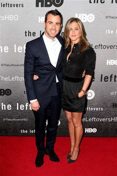 """By UsWeeklyJennifer Aniston's first red carpet appearance in months was worth the wait. The """"Cake"""" actress looked stunning and slim as she walked alongside fiance Justin Theroux at the New York premiere of his new HBO series """"The Leftovers"""" on Monday, June 23.Asked how it felt to have Aniston there to support him, Theroux told Us Weekly, """"It feels great!""""PHOTOS: Jen's love lifeClad in a black blouse left unbuttoned to expose her cleavage, and a black miniskirt that showed off her toned, ..."""