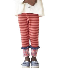 NWT Matilda Jane Secret Fields CAMILLA RIBBED LEGGINGS Striped Pants Sz 2 #MatildaJane #Leggings #Everyday