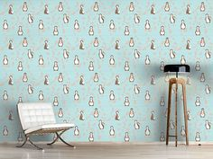 Design #Tapete Pinguin Blüte Home Decor, Self Adhesive Wallpaper, Asia, Wall Papers, Bed Room, Decoration Home, Room Decor, Interior Decorating